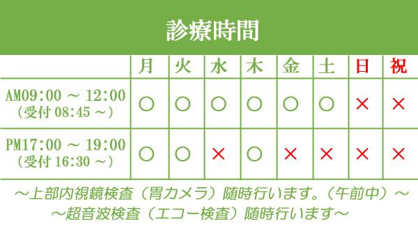 守口市の秋山医院診療時間表